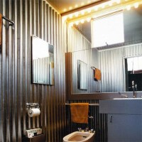 HOME DZINE Home Decor | Corrugated sheet metal for indoors