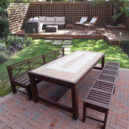 build an outdoor table and benches