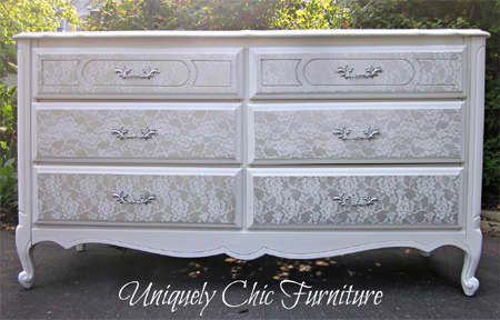 HOME DZINE Craft Ideas Transform Furniture With Lace And