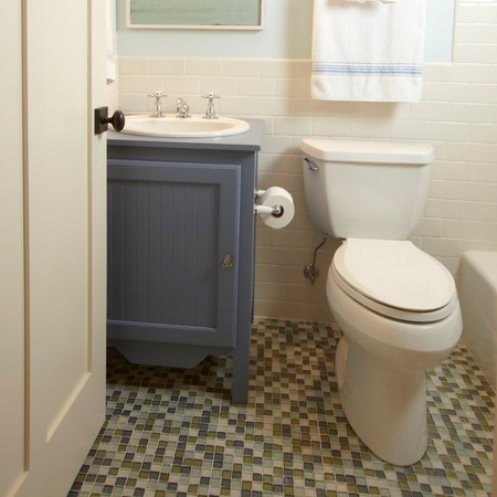 bathroom makeover renovate ideas for rental home flat