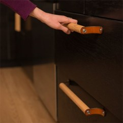 Kitchen Pulls And Knobs Remodeling A Small Home Dzine Craft Ideas Crafty Ways To Make Your Own Handles Leather Dowel Diy Cabinet