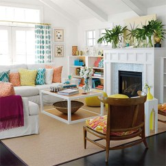 Bright Colour Living Room Ideas Blue Area Rug Home Dzine Decor Add Pops Of Bold Decorate Combinations