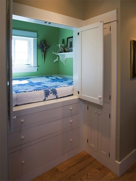 Home Dzine Bedrooms Making Room For Beds In Small Spaces