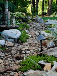 HOME DZINE Garden Ideas | Pebble and rock river bed for ...
