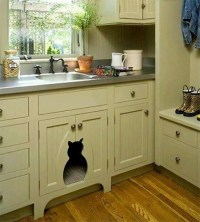 HOME DZINE Home DIY   How to disguise or hide a litter box ...