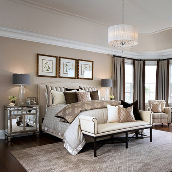 Being able to adjust lighting in a bedroom can completely alter the atmosphere. Installing a dimmer switch creates a relaxing environment conducive to a good night's sleep. Adding different levels of lighting also puts you in control of the mood. Most bedrooms have a central ceiling fixture, but also look at ambient lighting via bedside lamps or low-voltage ceiling lights.