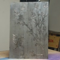 HOME DZINE Craft Ideas | Faux pewter wall art