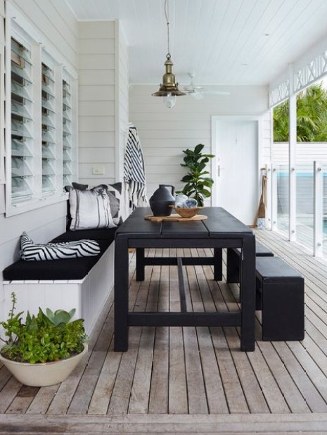 HOME-DZINE | Outdoor Rooms - Even a small deck or patio can be cleverly arranged to allow for seating and dining in one area.