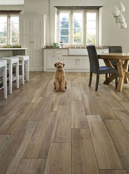 bring the outdoors in with wood look tiles