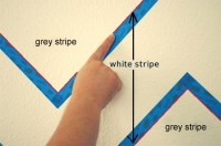 HOME DZINE | How to paint stripes on textured walls