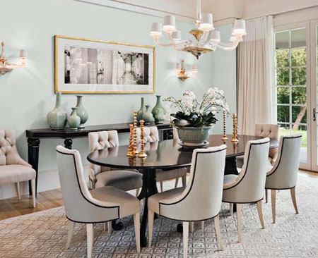 brushed aluminum chairs colored desk home dzine decor   decorate a dining room