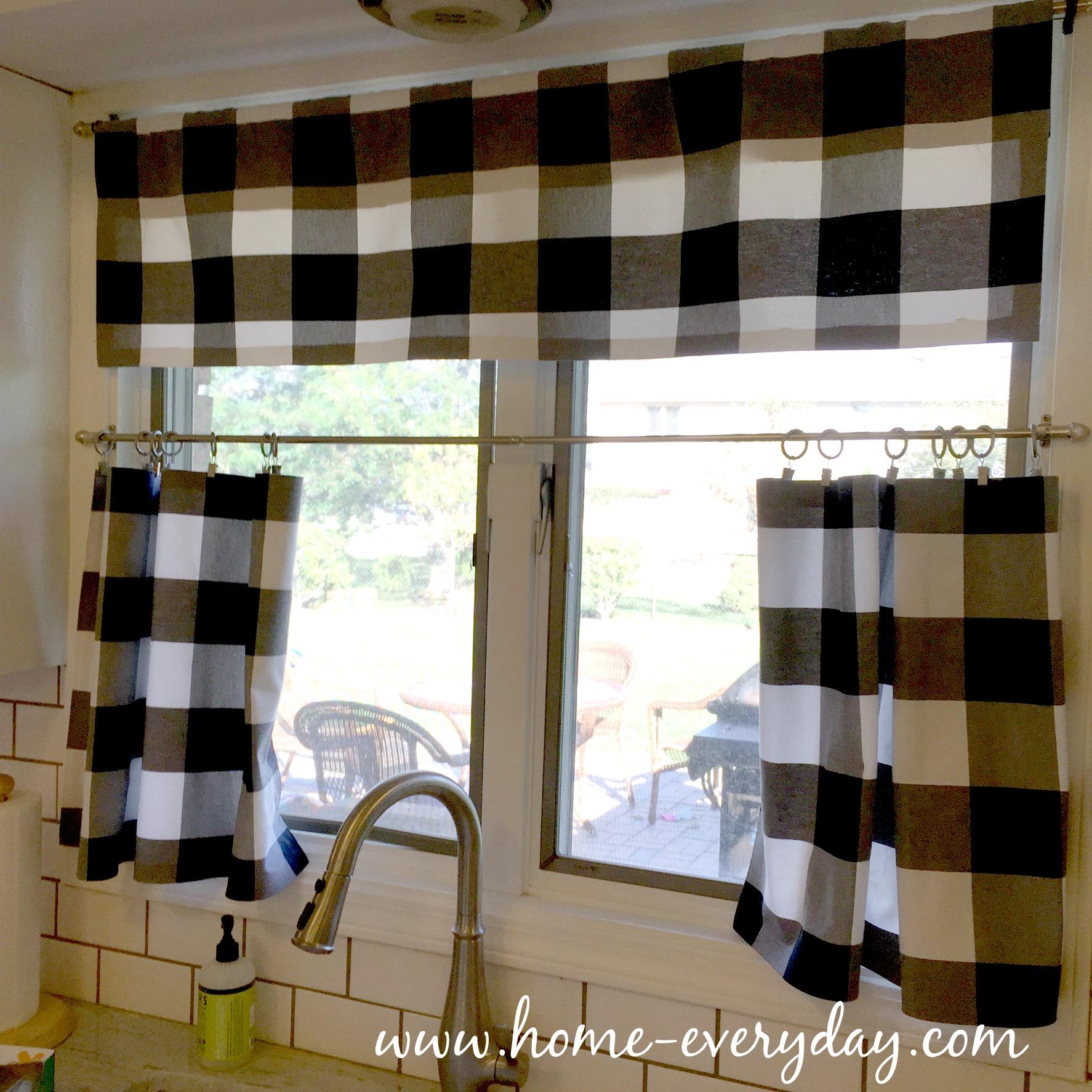Black Kitchen Curtains And Valances