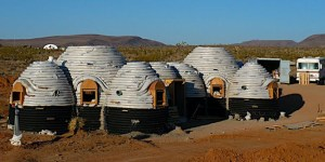 Earthbag domes look similar to coil pots during construction.