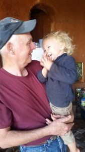 boy 2 toddler big smile grandpa clapping hands