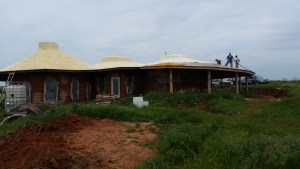 Spray-foam roof