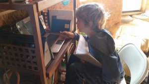 homeschool laptop off-grid kids