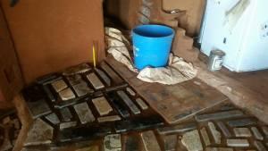 soil cement granite scraps earthen floor home farm
