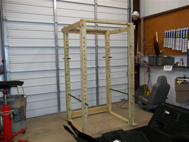 homemade power rack made