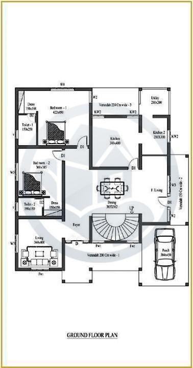 Beautiful Kerala Home Design With Plan 2015