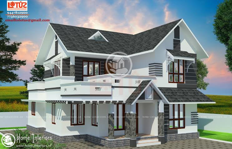 1500 Sq Ft Modern Style Home Design