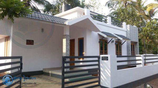 Single Storied Home Design Floor Plan 720 Sq Ft