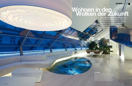 Futuristisches Interieur Loft Wohnung  steensrunningclub