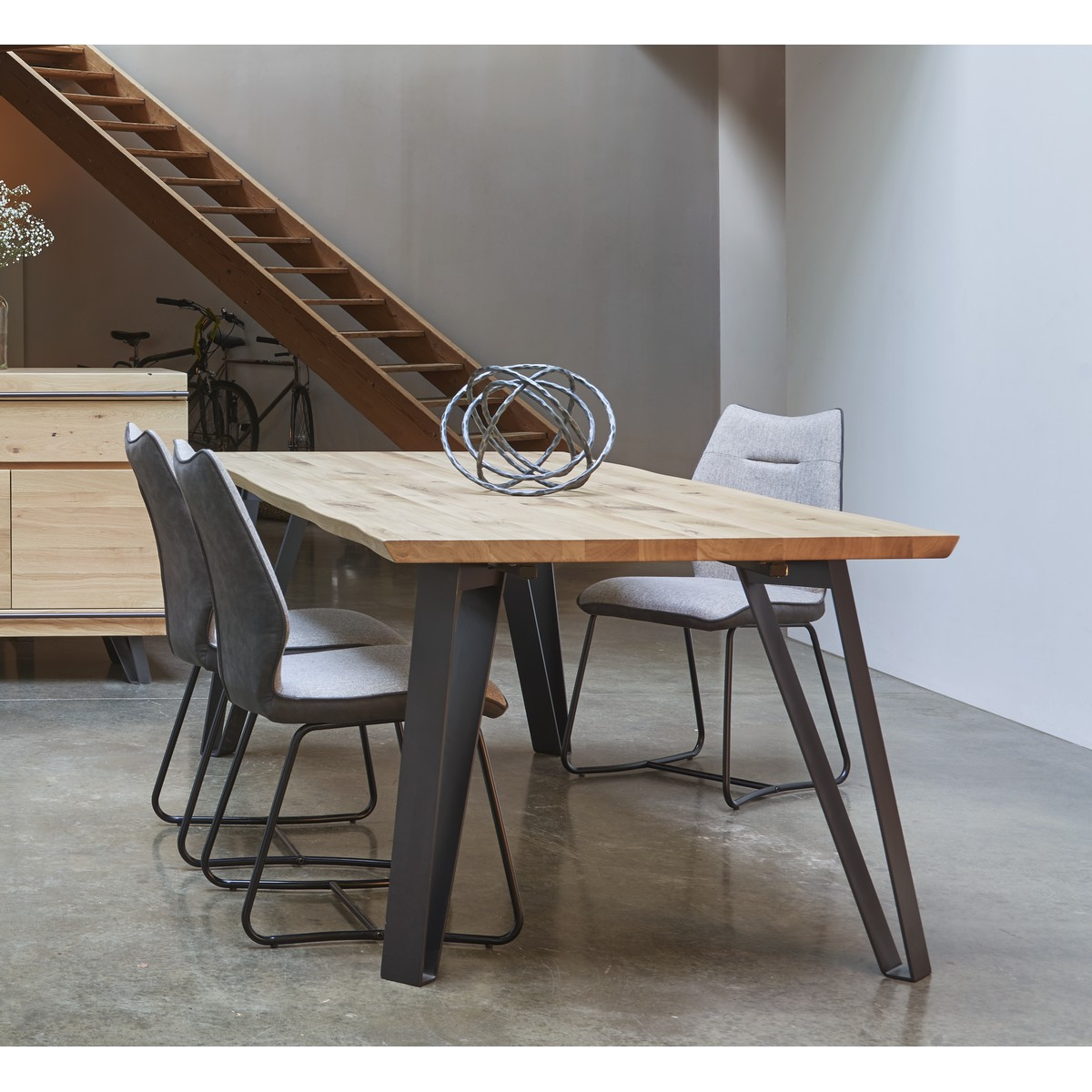 table fusion 4 pieds metal