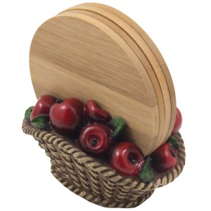 Apple Bamboo Coasters