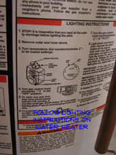 water heater lighting instructions