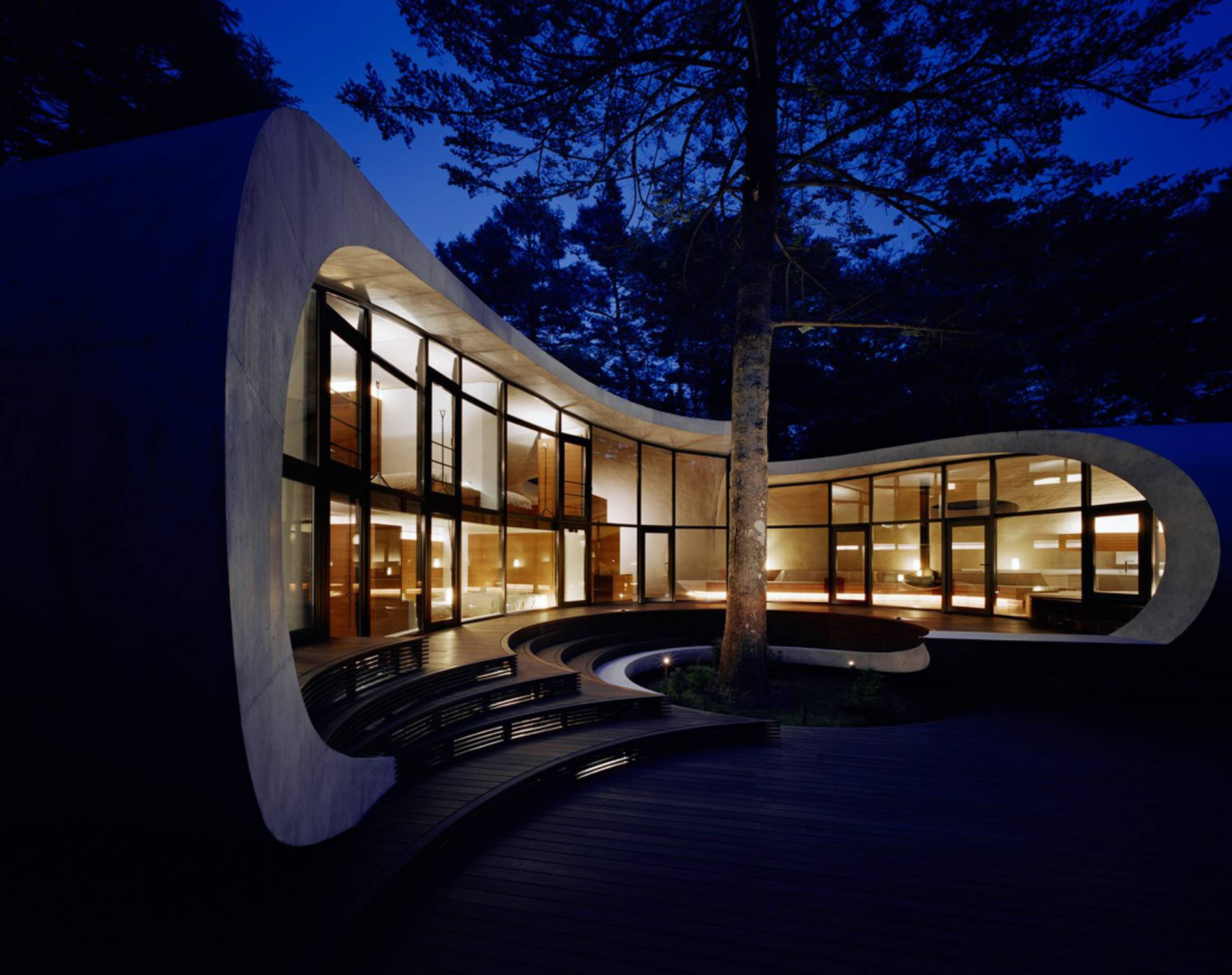 Shell House In Forest Artechnic Architects