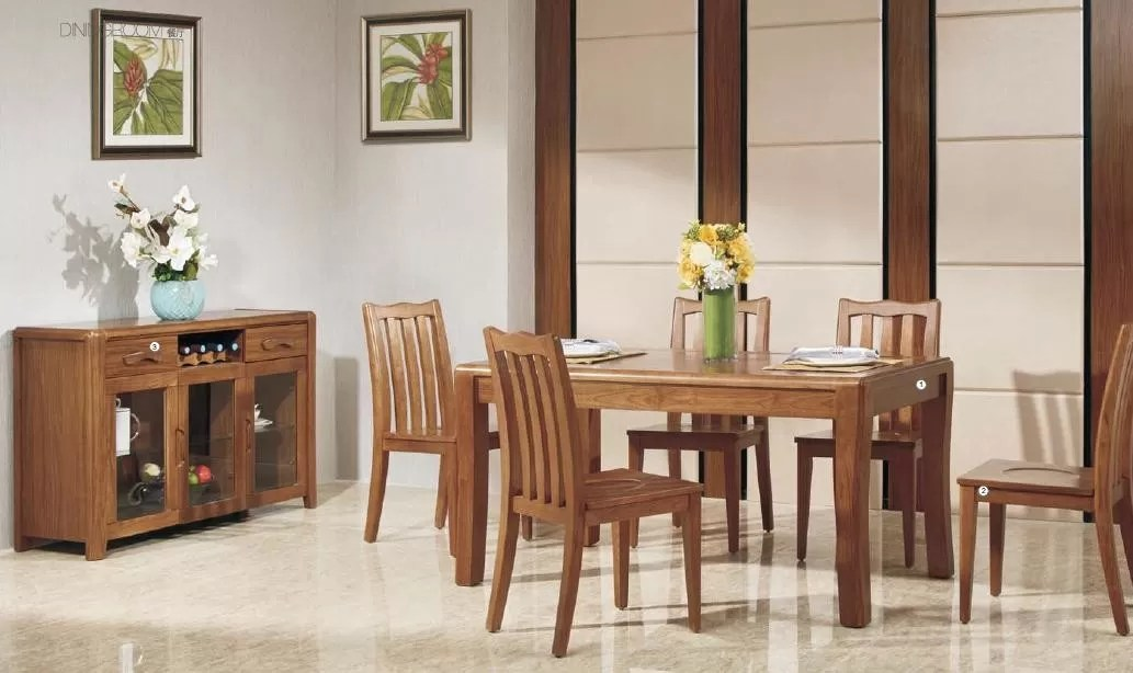 Full Solid Wood Elegant Dining Room Furniture Modern Dining Room Table Sets