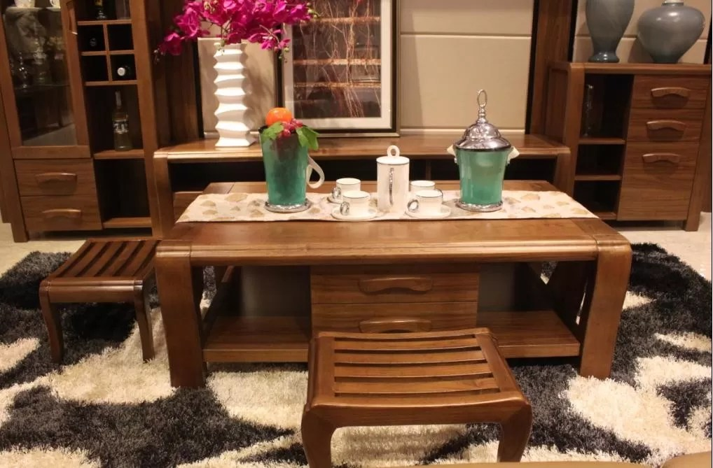 living room furniture wood sofa sets for sale modern design solid wall units coffee table