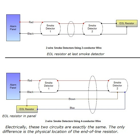 how to wire smoke detectors diagram smart car wiring detector - connecting multiple runs