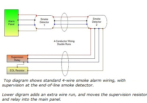 connecting 4 wire smoke detectors