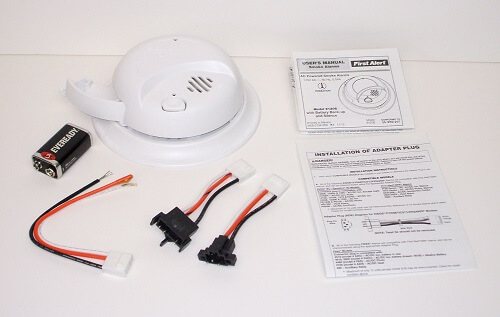 how to wire smoke detectors diagram heath zenith motion sensor light wiring replacing electric - 110-volt hardwired alarms