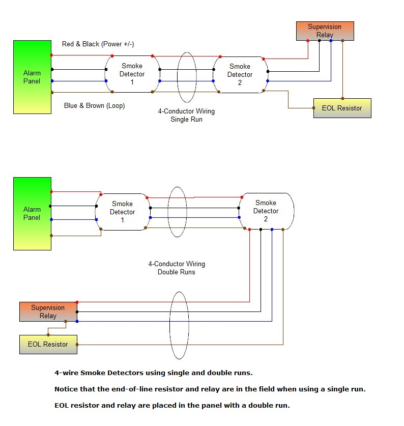 home smoke detector wiring diagram
