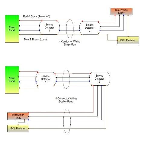 smoke detector interconnect wiring diagram
