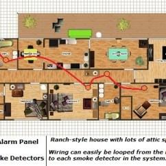Smoke Alarm Wiring Diagram 2006 Jayco Rv House Description Detector Connecting Multiple Runs Bosch Fire
