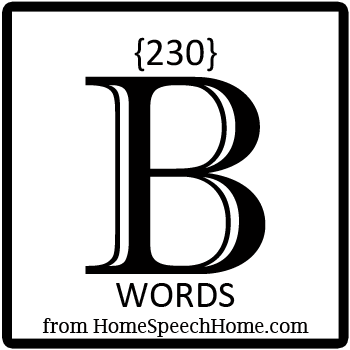 230+ B Words, Phrases, Sentences, & Paragraphs Grouped by