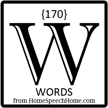 170+ W Words, Phrases, Sentences, & Paragraphs Grouped by