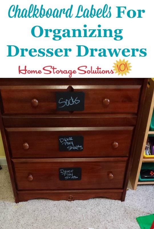Kids Bedroom  Closet Organization Idea Use Clothing Drawer Labels