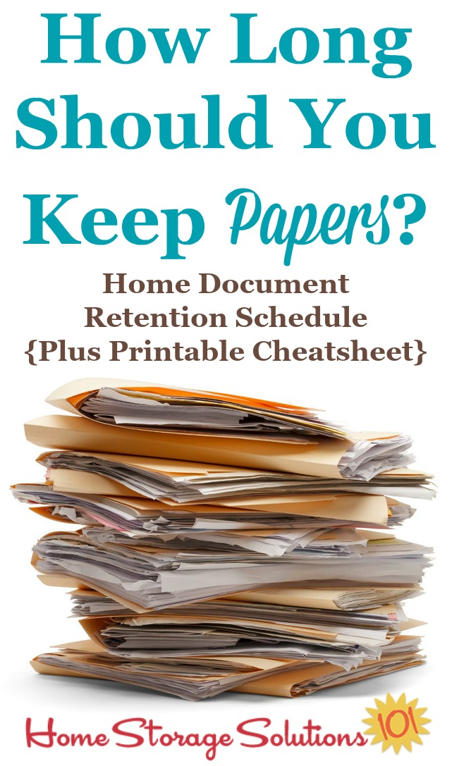 How Long Should You Keep Papers Home Document Retention