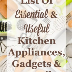 Kitchen Appliances List Cabinets Designs Essential Gadgets Small