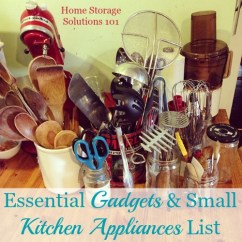 Kitchen Appliances List Remodels On A Budget Essential Gadgets Small Jpg