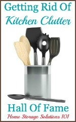 getting rid of kitchen clutter hall of fame