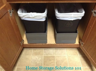 trash cans kitchen villeroy boch sinks garbage pros cons of the varieties and recycling bin inside cabinet