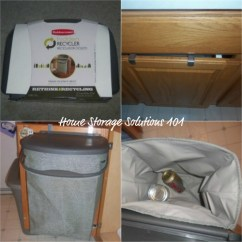 Small Recycling Bins For Kitchen Cabinet Painting Rubbermaid Bin Review Hidden Recycler