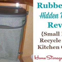 Small Recycling Bins For Kitchen Tables Sale Rubbermaid Bin Review Hidden Recycler