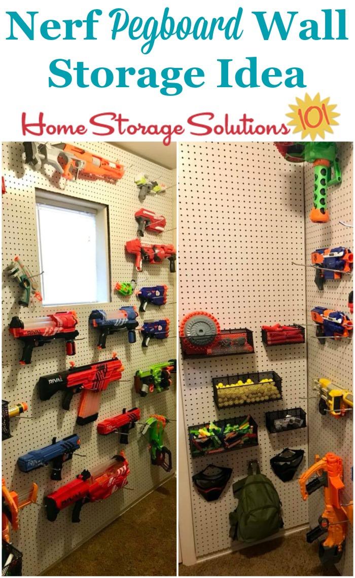 nerf storage organization ideas