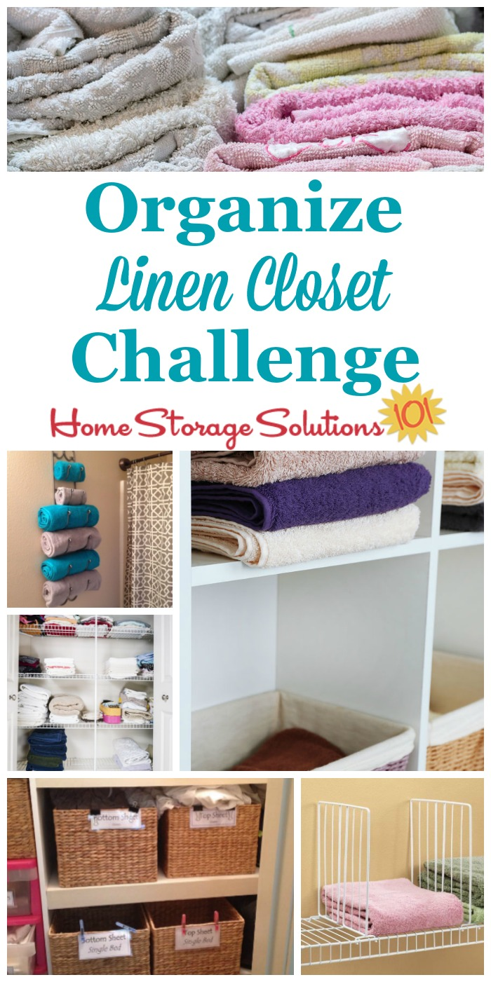 How To Organize Linen Closet Or Cabinet